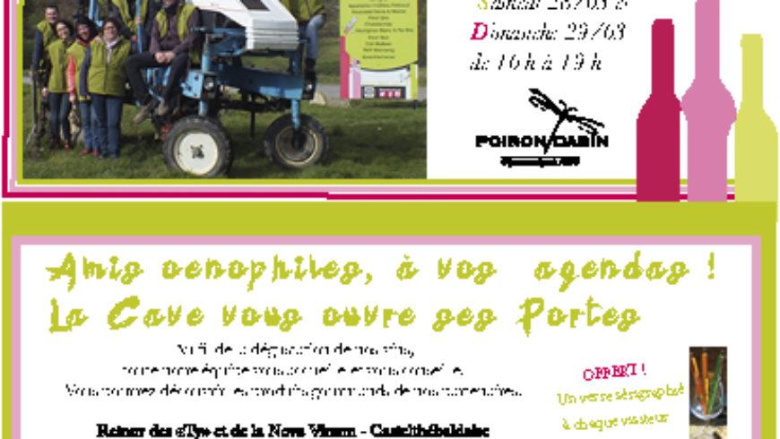 LES PORTES OUVERTES DE PRINTEMPS 27, 28 et 29 MARS 2020 !!